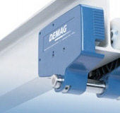 Demag chain hoist with suspended car